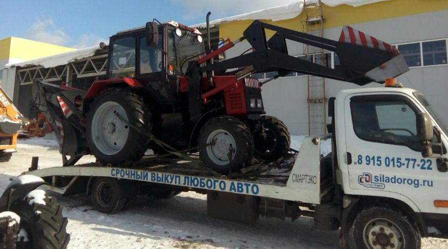 Эвакуация трактора фото