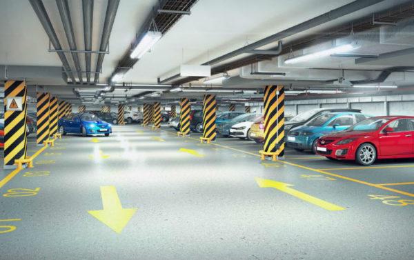 Подземный паркинг фото