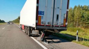 Сломался грузовик на трассе