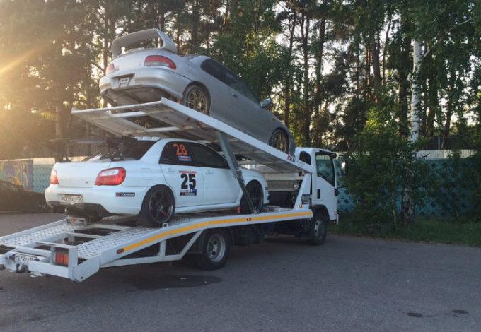Перевозка двух автомобилей