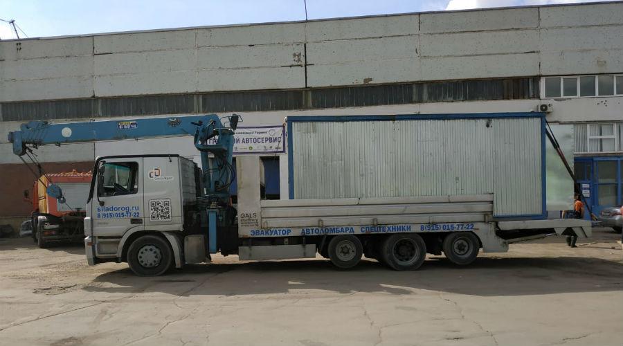 Перевозим гараж металлический