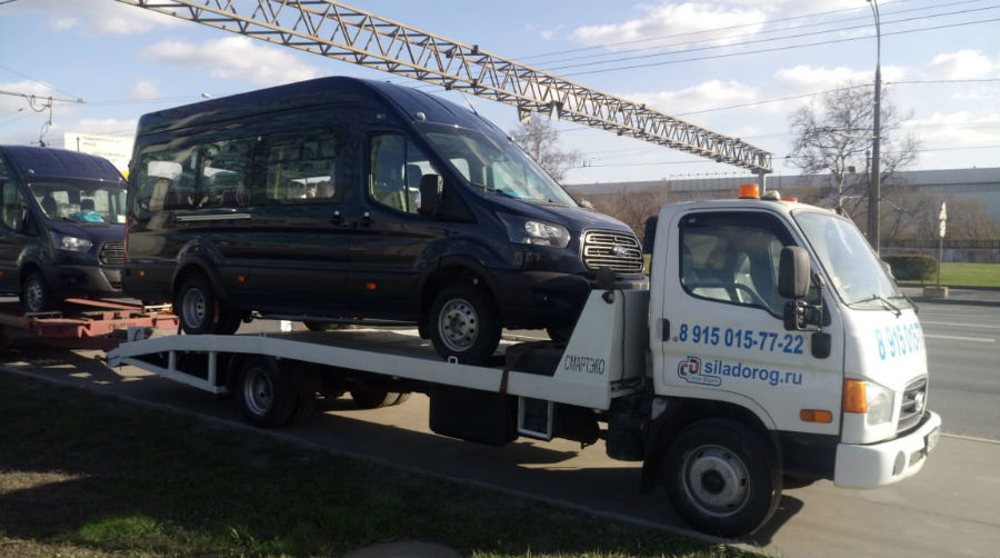 Перевозка двух микроавтобусов